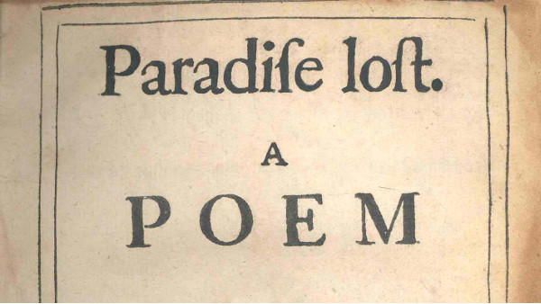 Paradise lost. A POEM.